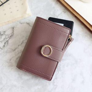 HBP Wallets Wallets Pequeña marca de moda Monedero de cuero bolso de tarjeta para mujer para mujeres 2020 embrague mujer monedero monedero monedero monedero violeta