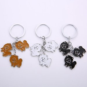 Chow Chow pendant car keychain for men women pet dog bag charm key chain keyring holder fashion jewelry