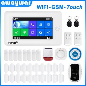 يدعم نظام إنذار Awaywar WiFi و GSM ل Smart Home Security Leflar متوافق مع Tuya IP Camrea1