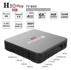 Android 9.0 TV BOX H10 PLAY allwinner H6 Quad-Core 2GB 16GB 4GB 32GB 4GB 64GB built-in 2.4GWIFI 6K smart box kdx