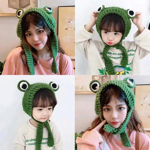 Frog Beanies Solid Hip-hop Skullies Knitted Hat Cap Costume Accessory Gifts Warm Winter Lovely Christmas