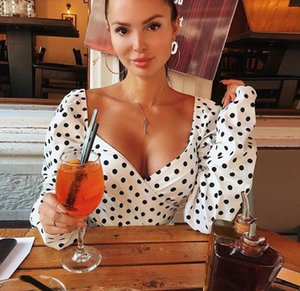 Sexy V neck Tank Tops Women Fashion Summer Polka Dot Crop Top Female Short Tie Casual White Camis