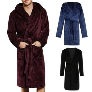Mens & Ladies Nylon Hooded Bathrobe Towelling Bath robe Dressing Gown 201109