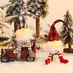 2020 Gnome Новогоднего украшение Подарка для малыша Главной украшения светодиодного Рождества Открытого украшения стола А03