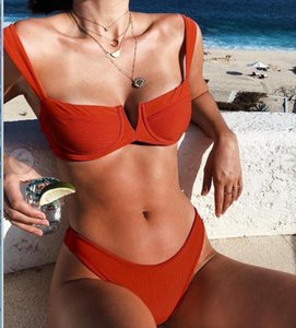 women tracksuit 2018 new arrivals summer girls white red swimsuits two piece sets Drop Shipping