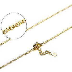 Cadenas de plata S925 cadenas plateadas oro 18K plateó la serpiente Caja de joyería Collar de la Cruz DIY 40cm + 4cm 1mm mayorista