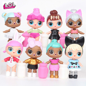 8 pieces lol dolls toys for girls surprise gift baby doll girls toys doll lol surprises kids birthday gift 8cm toys for children Y1230