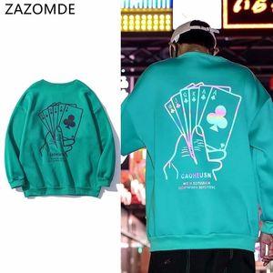 Zazomde Sudadera reflectante Hombres Láser Reflectante Reflexivo Streetwear Japonés Harajuku Hip Hop Hoodie Hombres Sudaderas Y201123