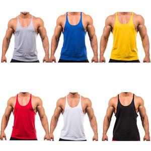 New Style Jogger Mens Gym Singlet Training Bodybuilding Tank Top Vest Shirt Sleeveless Fitness Cotton Shirt For Men