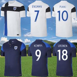 20 21 Finlandia Soccer Jersey 2020 2021 Pukki Skrabbs Raitala Camicia da calcio Mens Finlandia Casa manica corta uniforme da calcio
