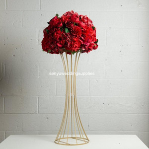 new style 4pcs)Wholesale Metal Chandelier Flower Stand Centerpiece For Wedding Table senyu18021