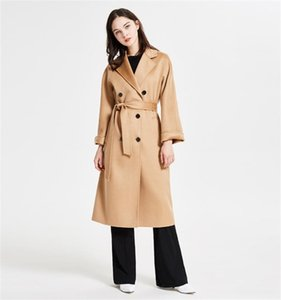 Coat women winter very warm 100 % cashmere coat hot sale FL23