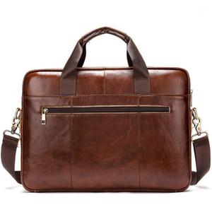Bolsa de negócios de couro genuíno bolsa de documento seção transversal tempo de lazer único ombro satchel computador de informática sacos homens1