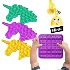Push Bubble Fidget Sensory Toy New Push Pop Bubble Fidget Antistress Toys Adult Kids Pop It Fidget Sensory Toy Autism Decompress