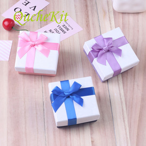 15 parts 3 color belt node jewelry coffin Bracelet Earring storage container box beautiful packaging Christmas gift box