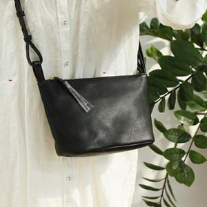 Kleine Frauen Messenger Bag Marke Design Umhängetaschen Für Mädchen 2021 Neue Weiche echte Kuh Leder Hobo Mode Crossbody Handtaschen