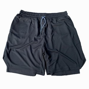 2 in 1 Running Shorts Quick Drying Double Layer Jogging Gym Shorts Men Beach Fitness Workout joggers mens sweatpants beachwear