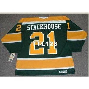740 # 21 RON Stackhouse California Golden Seals 1970 CCM Vintage Hockey Jersey или пользовательское имя или номер ретро Джерси