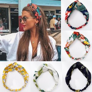 20pic Fashion Women Girls Summer Bohemian Hair Bands Print Headbands Vintage Cross Turban Bandage Bandanas HairBands Hair Accessories