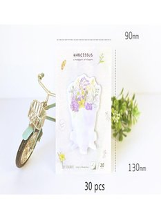 6 Pcs Lot Rose Flowers Sticky Notes Adhesive Memo Pad Paste Diary Sticker Scrapbooking Wedding Office School Supplies Fm666 sqclCo homecart