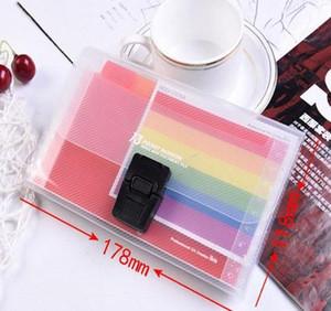 13 Grids A6 Document Bag Cute Rainbow Color Mini Bill Receipt File Bag Pouch Folder Organizer File H jllOlx yummy_shop