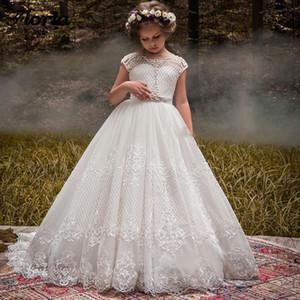 2021 Flower Girl Dresses For Weddings Vestidos Daminha Girls Lace First Communion Dresses For Girls