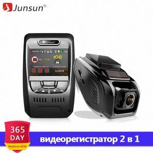 Junsun A7880 2 en 1 visión del coche DVR GPS de radares LDWS Super HD 1296P Registrador noche auto grabador de vídeo registrador Dash cámara de la leva jFqX #