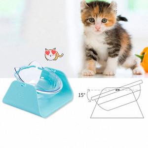 Pet Dog Bowl antiderrapante Dish Cat Suluk Tilted Pet Feeder Com base adequada para a maioria dos gatos Branco Transparente Container WOwx #