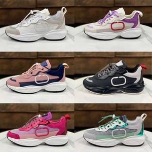 Luxo Homens Malha Tecido Lace-Up Liso Sneaker Designer Sneakers Mulheres Branco Calfskin Genuíno Camurça De Couro Camurça Treinadores Tamanho 35-45