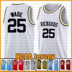 25 웨이드로드 먼 RICHARDS 마켓 골든 이글스 유니폼 NCAA 대학 농구 뉴저지 (23) 제임스 2 레너드 (11) 어빙 (30) 카레