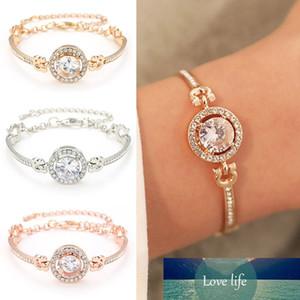 Fashion Luxury Rhinestone Zircon Multi-Layer Bangle Bracelet High Quality Rhinestone Charm Bracelet for Women Girls Gifts 1pcs