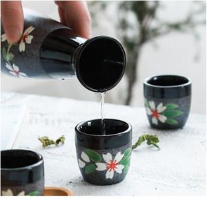 Japanische Sake Set, 5 Stücke Sake Set Handgemalte Design Porzellan-Töpferwaren traditionelle Keramikbecher Handwerk Weingläser BBYBBO