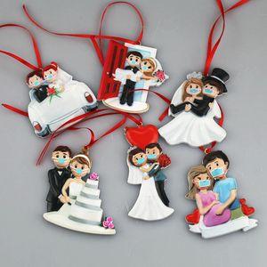 2020 Décoration de Noël de résine Ornement d'arbre de Noël des animaux ATOUT Père Noël Noël Hanging Home Decor A03
