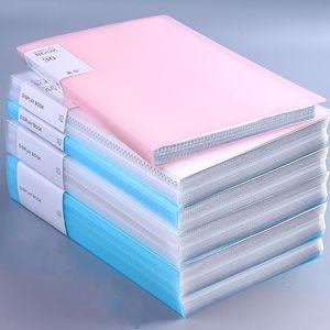 A4 pasta de folhas soltas 60 Página Double Limpar À Prova D 'Água A4 File Document Filt Folder Arquivos Classificação de suprimentos práticos para escritório e escola