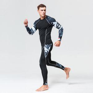 Jerseys de Tracksuit das Mulheres Ciclismo Underwear Set Compression T Shirt Rashguard Homens Base Layer Sport Training Suit