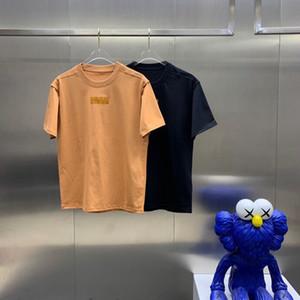 2021 ранняя весенняя футболка с короткими рукавами женщин мужская верхняя одежда, чистая красная взрыва писем печатает тенденцию дна рубашка половина рукава L9EP