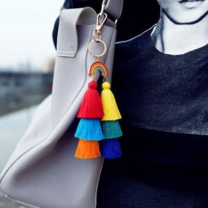 sacchetto dell'anello chiave layer nappa a più Boemia oro Rainbow nappa portachiavi appendere per i gioielli da donna volontà e il dono di sabbia