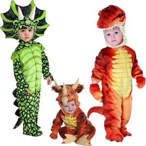 Triceratops Costume Boys Kids Little T-Rex Costume Cosplay Dinosaur Jumpsuit Halloween Cosplay Christmas Costumes for Kids