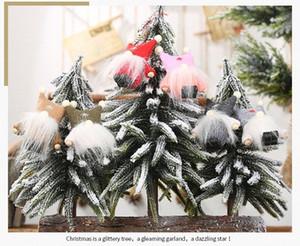Новая мода Новогоднее украшение Креативный елки украшения Двойной Болл Cap Нет Лицо куклы кулон TuCC #