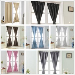 1 Pannello di Porte a vetri tenda del pannello solido Rod Pocket window Trattamento 7 colori Vintage eleganti tende NO CANNE