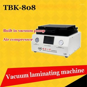 TBK-808 LCD Touch Screen Repair Automatic Bubble Removing Máquina Oca Vácuo Laminating Machine com bloqueio automático Gas1