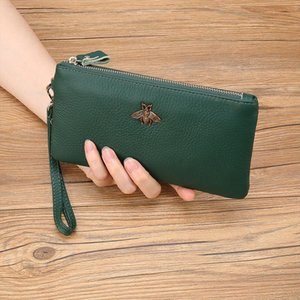 Wallet Women Brand Design Portefeuille Femme Genuine Leather Clutch Women Wallets Fashion Long Carteira Feminina Day Clutches