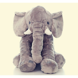 [Funny] 60CM Giant Elephant Plush Toy soft Skin Infant Stuffed Animal Doll Kids Sleeping pillow cover (without stuff) Baby Toy 201222