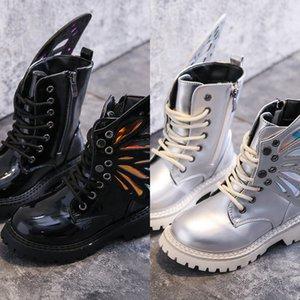 CCTWINS CHAUSSURES ENFANTS 2019 Automne Fashion Filles Noir Miroir Martin Bottes Bottes Boys Boys Casual Chaussures pour enfants High Top Shoes MB007 J1209