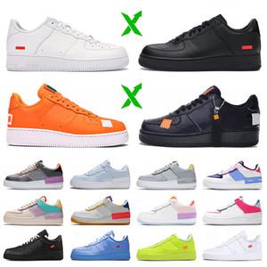 Luxury Plaform Sneakers One 1 Zapatillas de correr para hombres Mujeres AireFuerza Blanco Naranja Naranja Off MCA Universidad Azul Sombra Fuerza entrenadores
