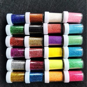 12 24 Colors Set 20G Diamond Glitter Shimmer Powder for Temporary Tattoo Kids Face Body DIY Nail Painting Art Decoration Tool