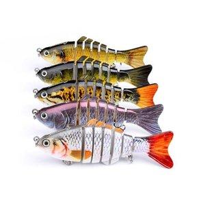 ABS البلاستيك صب الليزر مسكي الصيد إغراء 15G 8CM الغوص الضحلة 7 شرائح واقعية الأسماك الطعم باس crankbaits