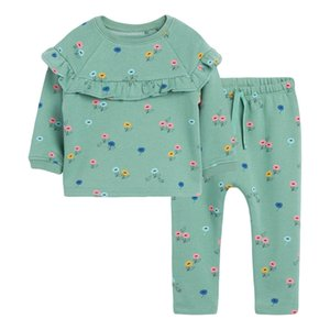 Little maven Girls Clothing Sets Flower Two-piece Toddler Girl Suits Children's Fall Boutique Outfits Kits For Children Sets 201126