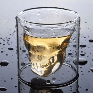 Creative Skull Glass Red Wine Whiskey Wine Cup Halloween Decoration Party Transparent Drinkware Drinking Glasses 25ML w-00583