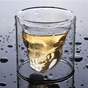 Creative Crâne Verre rouge Whisky Whisky Wine Cup Halloween Décoration Partie transparente Boire Verres d'alcool 25ml W-00583